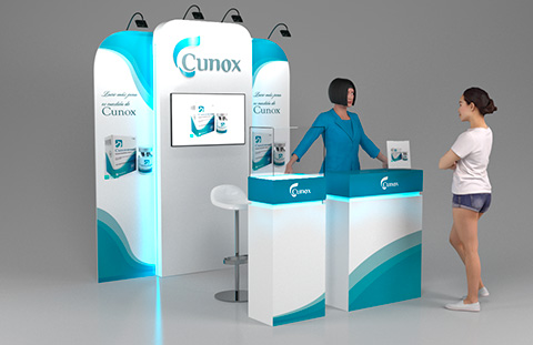 stand mostrador cunox